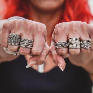 Zilveren damesringen